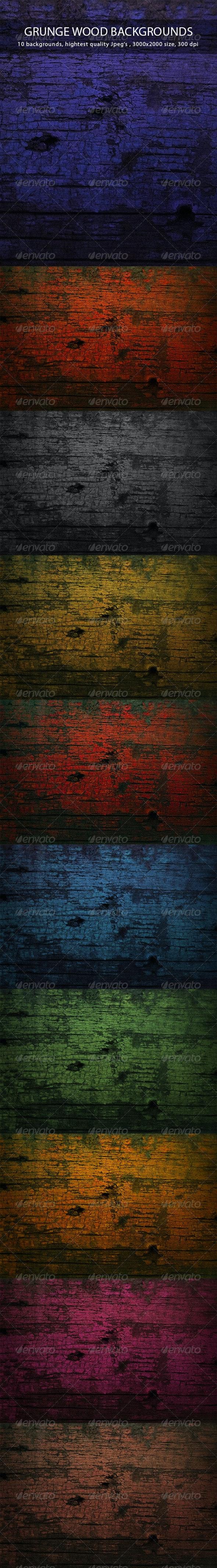 Grunge Wood Backgrounds - Nature Backgrounds