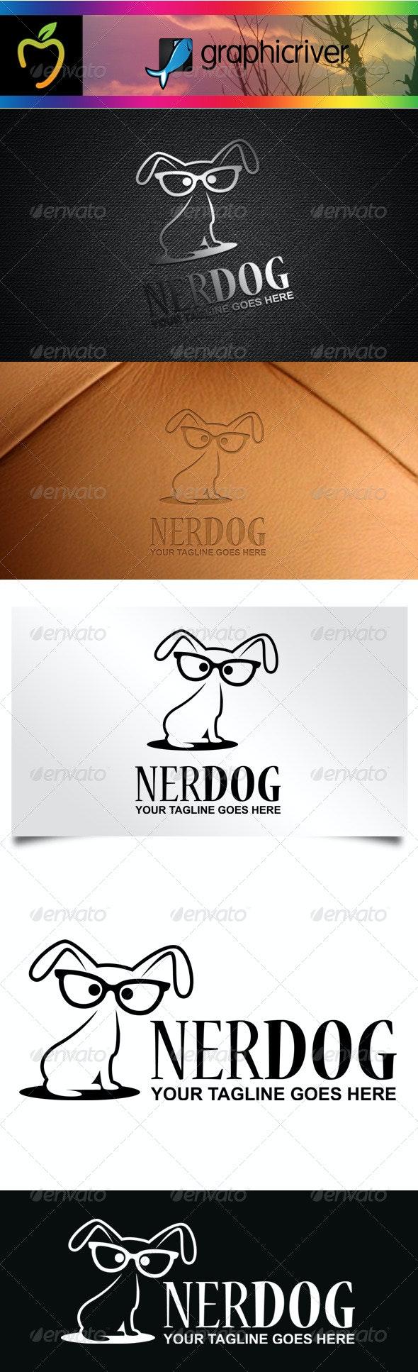 Nerd Dog Logo - Animals Logo Templates
