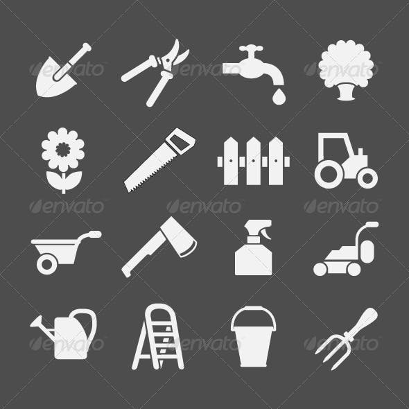 Set Icons of Garden and Farm