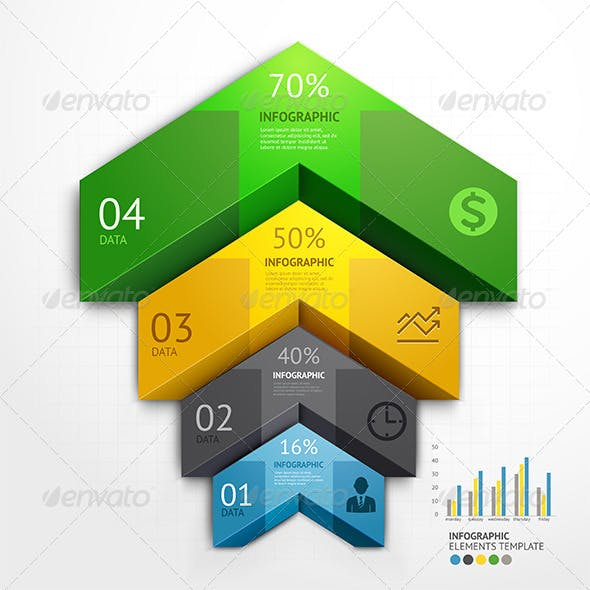 Infographic Arrow Business Template