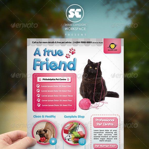 Pet Shop / Veterinary Centre Flyer