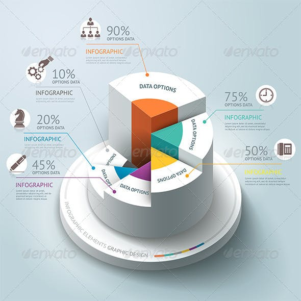 Business Infographics Step Circle Template