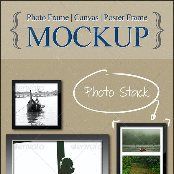 Photo | Canvas | Poster Frame - Mockup