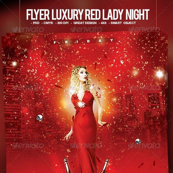 Flyer Luxury Red Lady Night