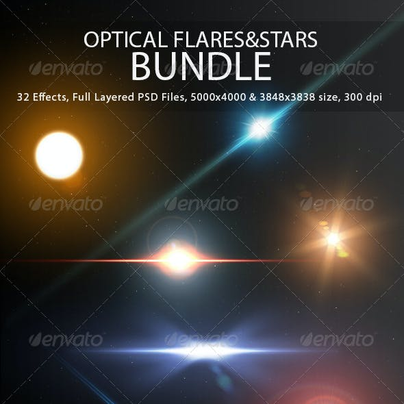 Optical Flares&Stars Bundle