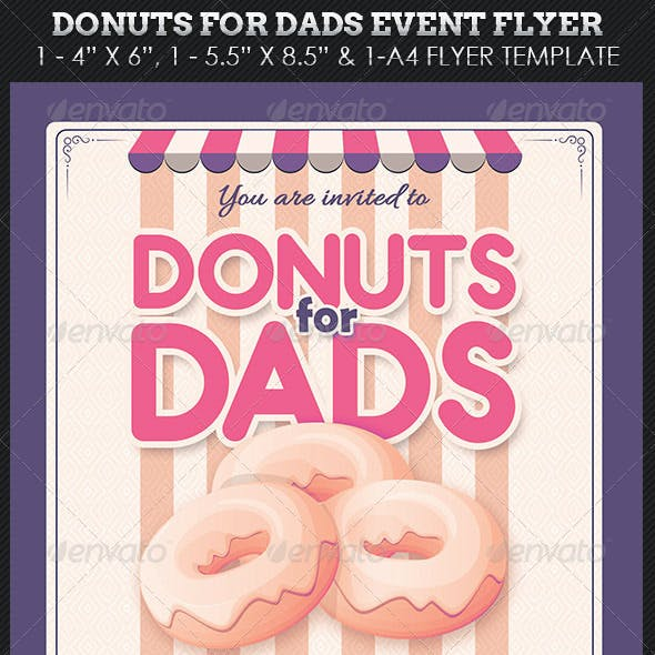 Donuts Dads Event Flyer Template