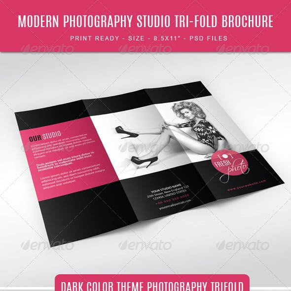 Modern and Fashion Photography Studio Tri-Fold Bro