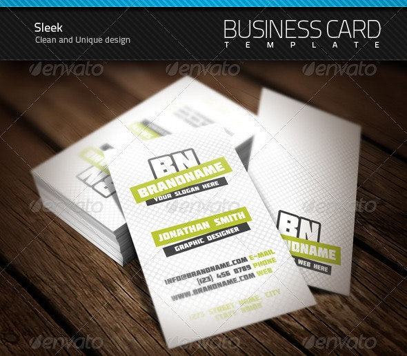 Sleek Business Card - Creative Business Cards
