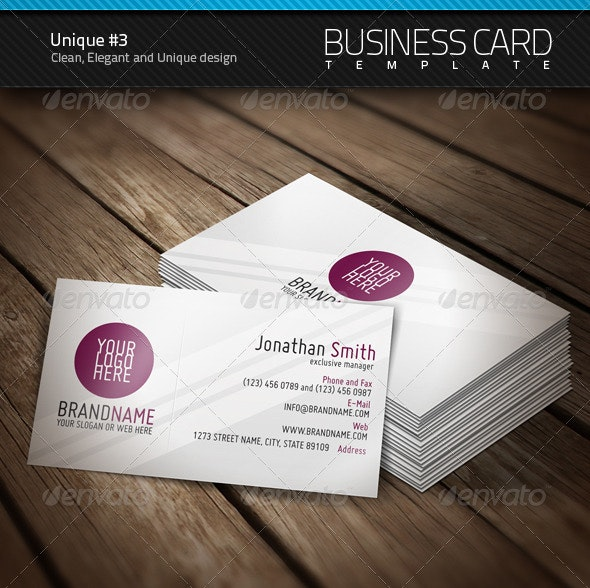 Unique Business Card #3 - Corporate Business Cards