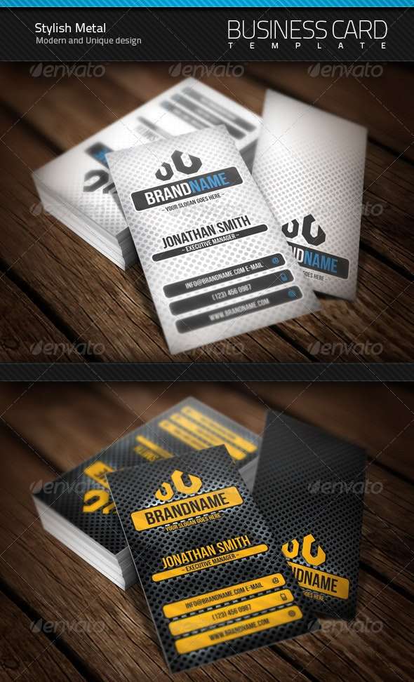 Stylish Metal Business Card - Corporate Business Cards