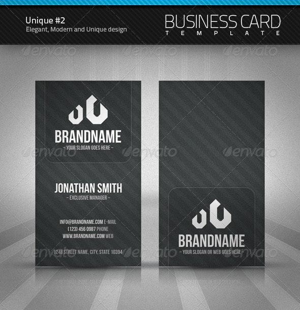 Unique Business Card #2 - Corporate Business Cards
