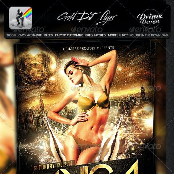 Gold DJ Flyer