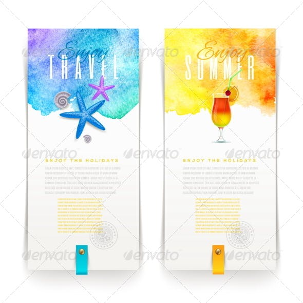 Summer and Travel Banners