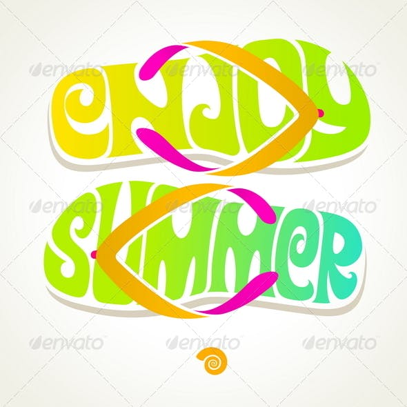 Flip-Flop with Summer Greeting