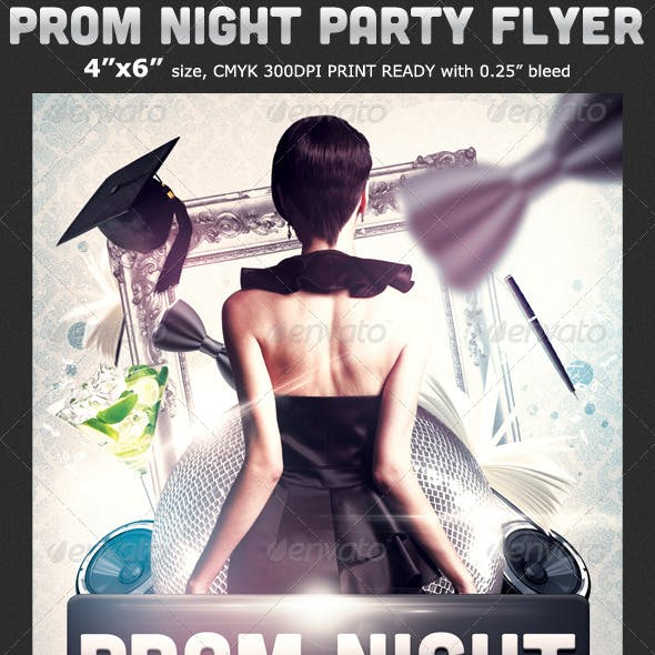 Prom Graduation Party Flyer Template