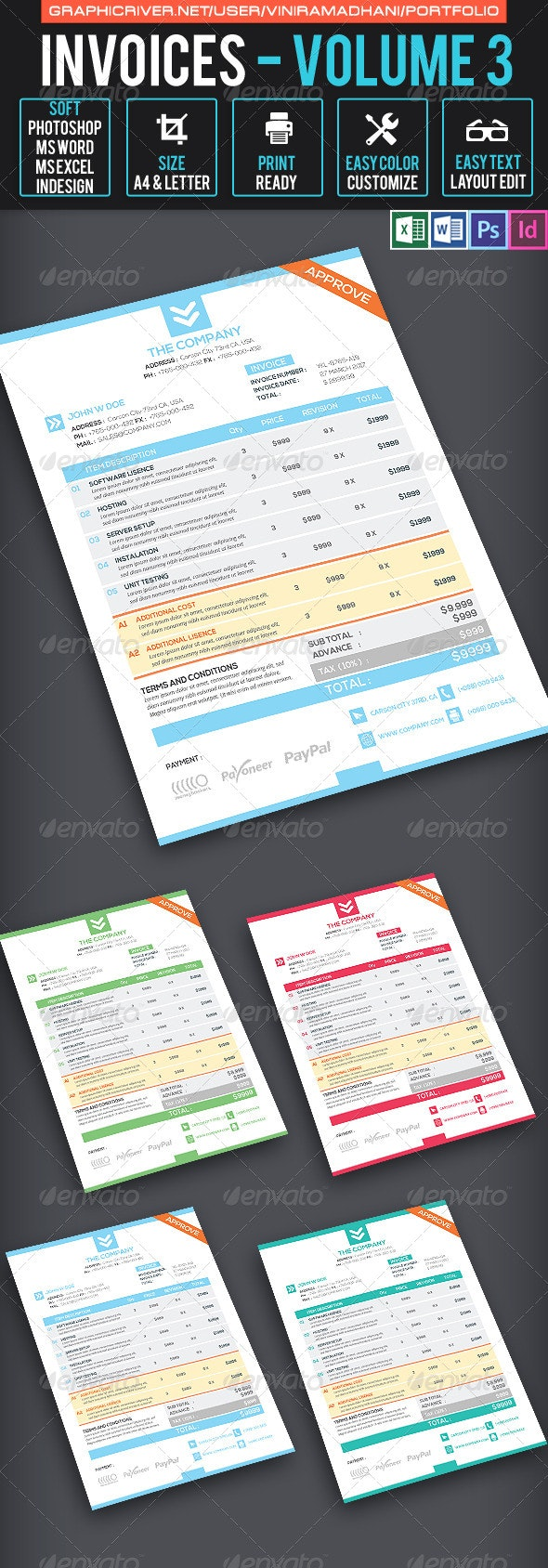 Invoices Volume 3 - Proposals & Invoices Stationery