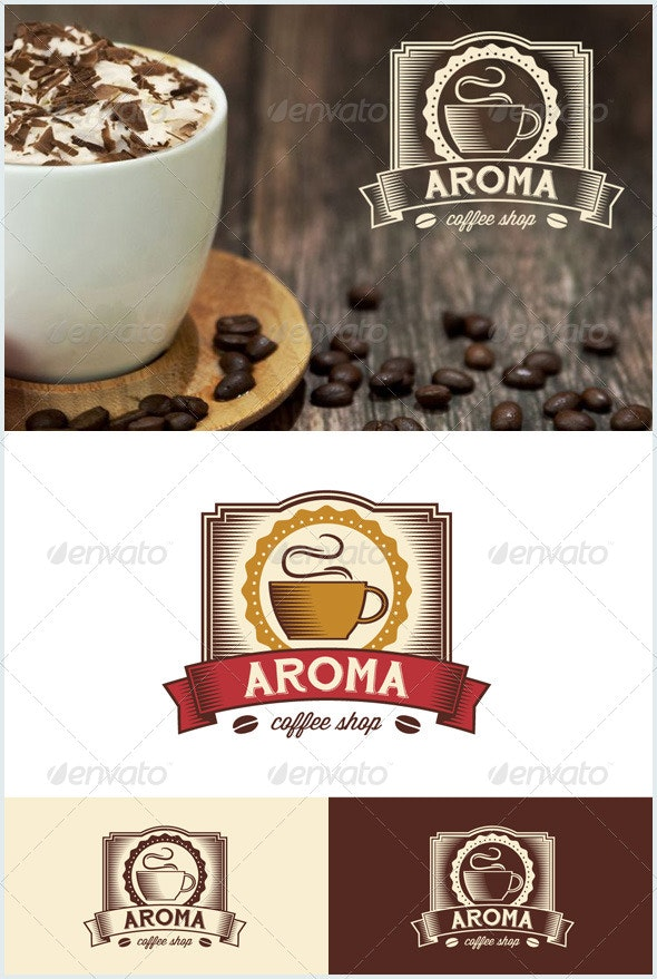 Vintage Coffee Shop - Food Logo Templates
