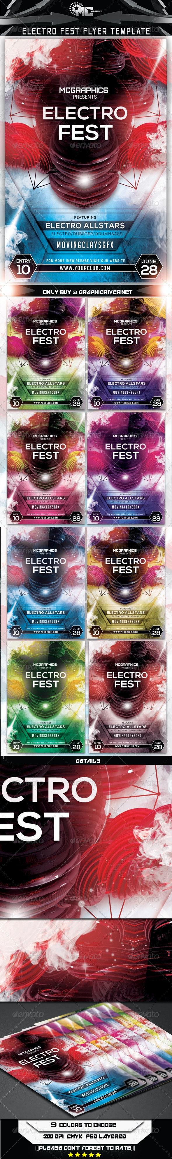 Electro Fest Flyer Template - Print Templates