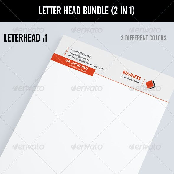 Letter Head Bundle (2 in 1)