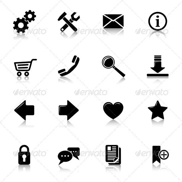 Website Icons Black