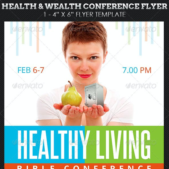 Health Wealth Conference Flyer Template