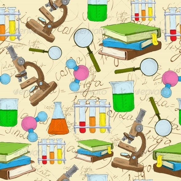 Science Sketch Seamless Background