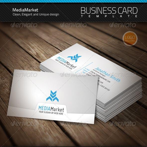 MediaMarket Business Card & Logo
