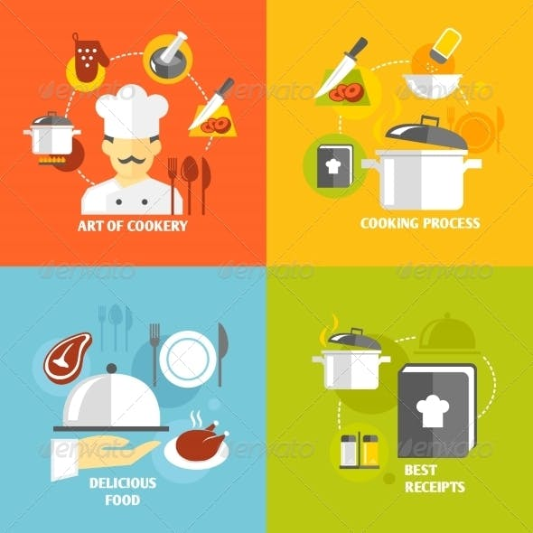 Cooking Icons Flat