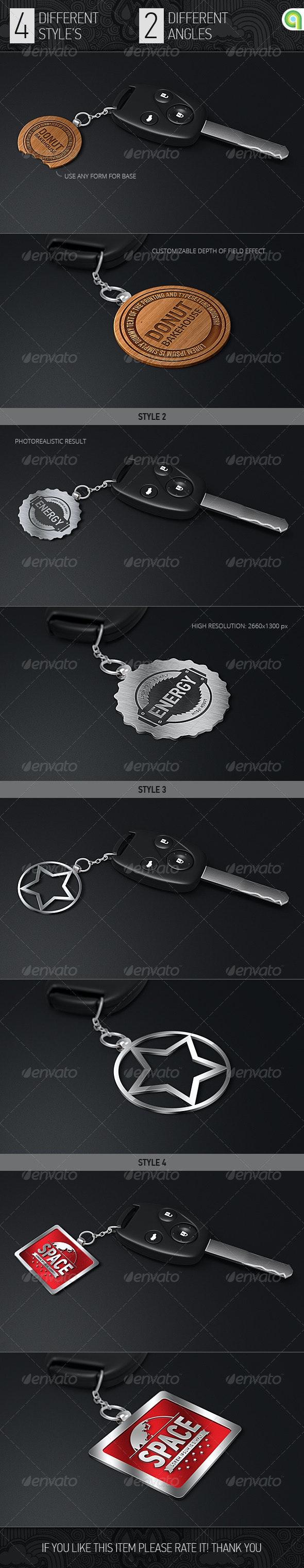Logo Mock-Up | Key Trinket - Logo Product Mock-Ups
