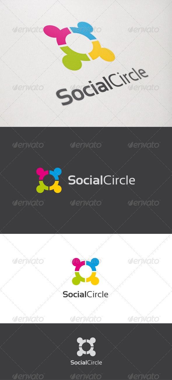 Social Circle - Humans Logo Templates