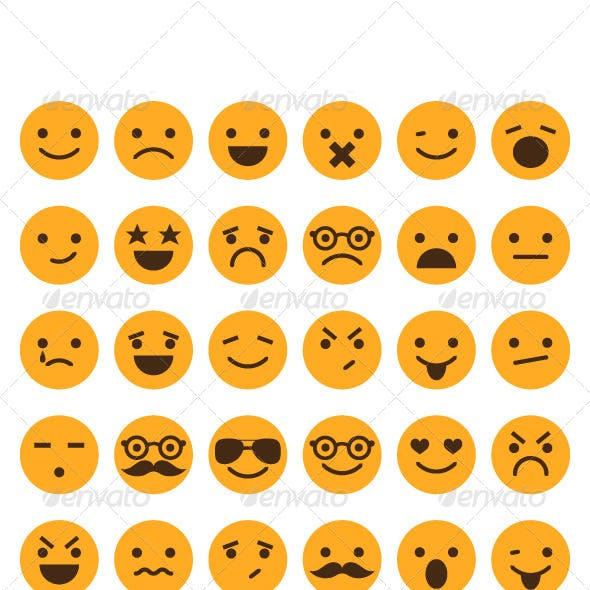 Set of Different Smileys