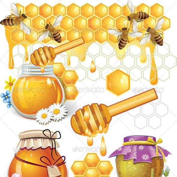 Illustration of Honey Elements