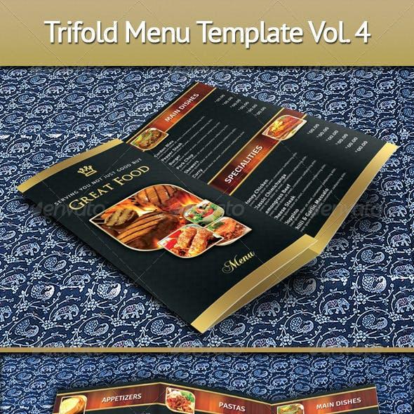 Trifold Menu Template Vol.4