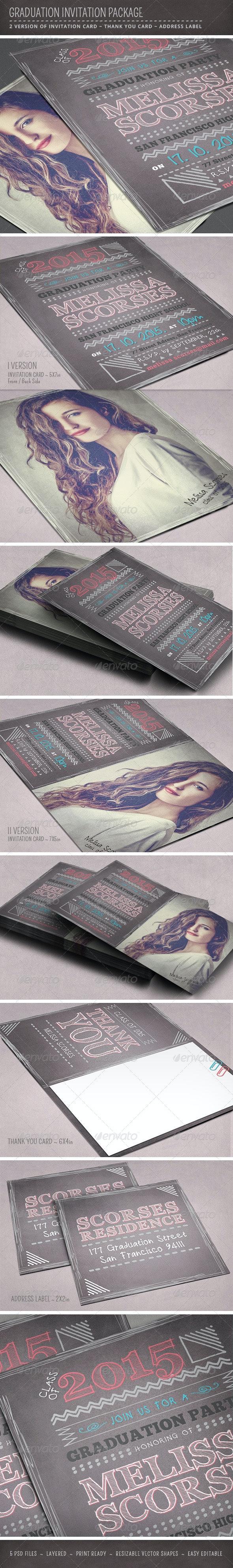 Graduation Invitation Package - Invitations Cards & Invites