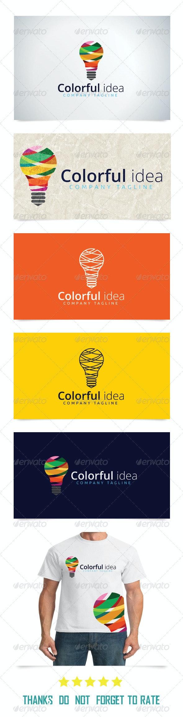 Colorful Idea  - Objects Logo Templates