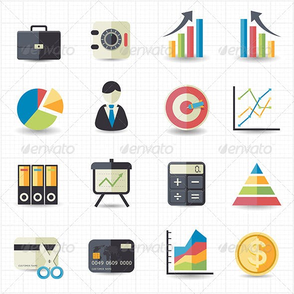 Business Finance Money Graph Chart Icons