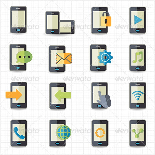 Mobile Phone Icons - Technology Icons