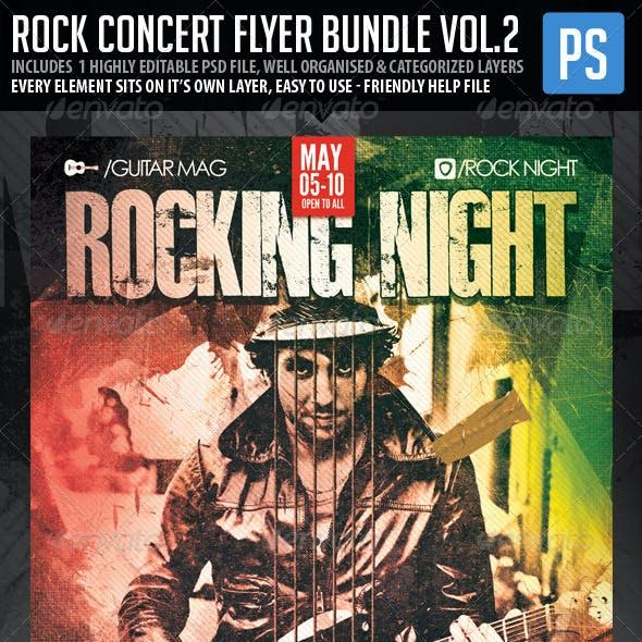 Rock Concert Poster/Flyer Bundle Vol.2