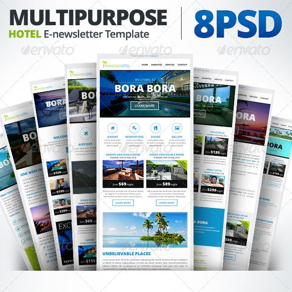 ParadiseHotel - Multipurpose E-newsletter Template
