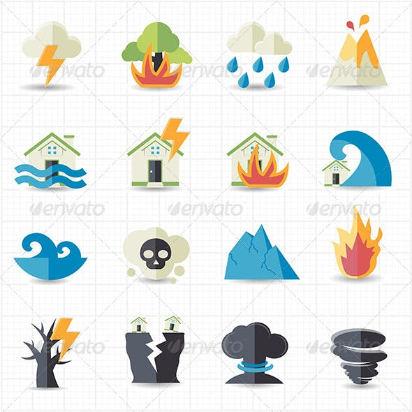 Natural Disaster Icons