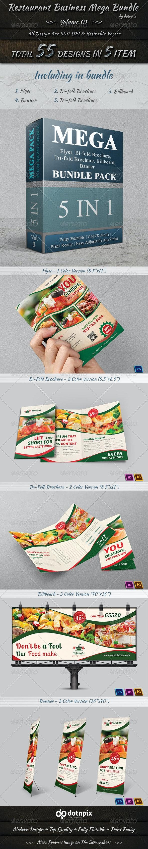 Restaurant Business Mega Bundle | Volume 1 - Stationery Print Templates