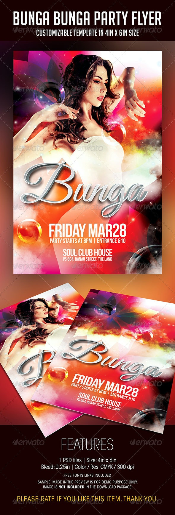Bunga Bunga Party Flyer - Clubs & Parties Events