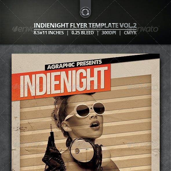 Indienight Flyer Template Vol.2