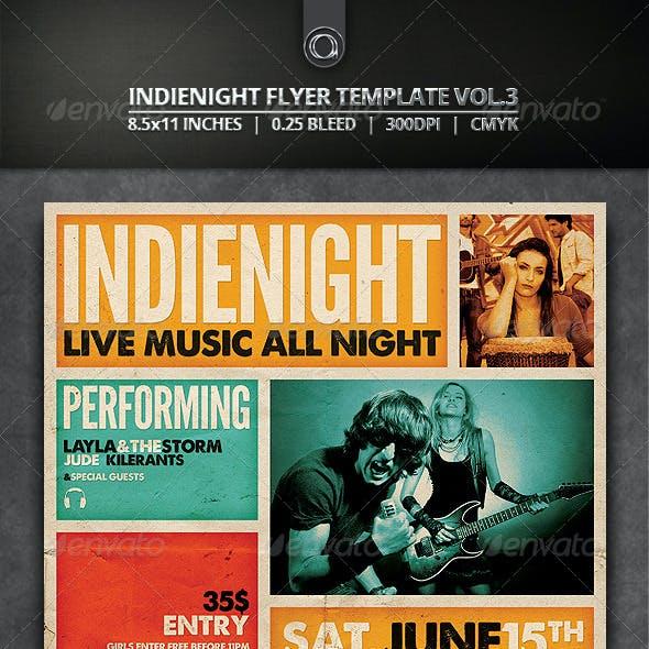 Indienight Flyer Template Vol.3