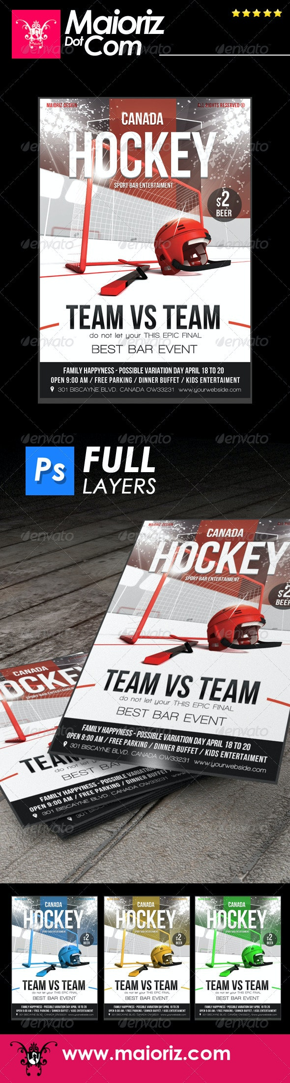 Hockey Game Flyer - Sports Events