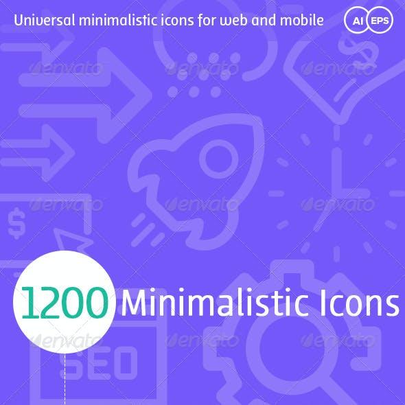 1200 Minimalistic Icons
