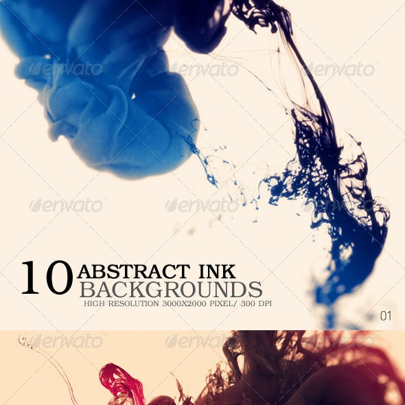 Abstract Ink Backgrounds