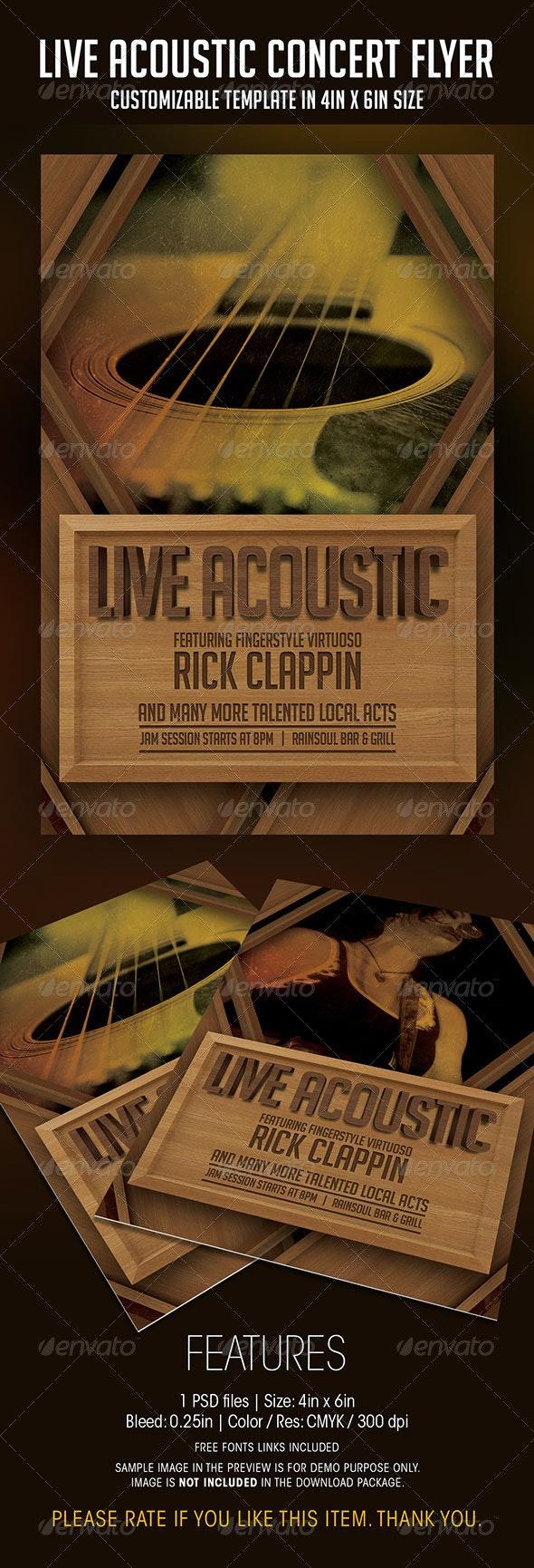 Live Acoustic Concert Flyer - Concerts Events