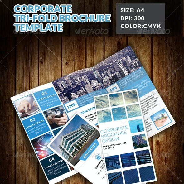 Corporate Tri-Fold Brochures Template 7