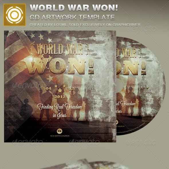 World War Won CD Artwork Template